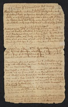 Boston Massacre trial notes [page Boston Public Library.