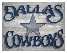 Dallas Cowboy vintage print by ZekesAntiqueSigns on Etsy, $15.00