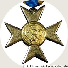 Prussia - UK. German States.  Gold Cross of Merit 1912 Donated: January 27, 1912 by Emperor and King William II. Awarded: 1912-1918
