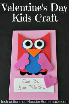 Valentine's Day Kids' Craft and Gift Basket | Instructions on HoosierHomemade.com