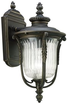 """Kichler Lighting 49001RZ Luverne Outdoor Sconce, Rubbed Bronze, 13.5"""" H, Amazon - $92.75"""