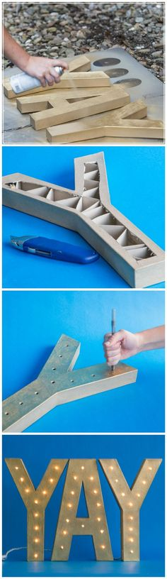 Make Your 'Marquee' with this DIY -