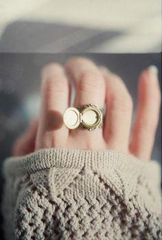 locket ring Okay...I have a thing for lockets!