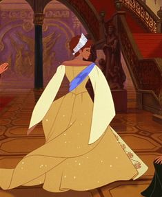 Anastasia. Has been an absolute favorite of mine since I was little. (What little girl didn't love that dress?) [GIF]
