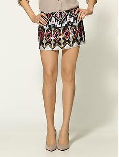 Love this. But as I'm not a cast member on Gossip Girl and my ass would peek out the bottom half of this skirt in a most unappealing way, I'll leave it that this skirt is super cute and should be part of some teenage TV drama wardrobe.