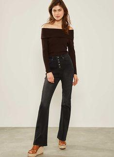Bellflower Black Bootcut Jean Black Bootcut Jeans, Bardot, Mom Jeans, Slim, Knitting, Pants, Shopping, Fashion, Trouser Pants