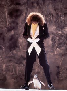 Brian May and a penguin :)