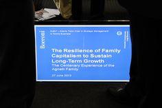 La resilienza del capitalismo familiare per sostenere la crescita a lungo termine - L'esperienza centenaria della Famiglia Agnelli - 27 giugno 2013 presso Università Bocconi