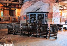 WDW Wilderness Lodge~relaxing in front of the fireplace..
