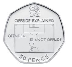 The Off-side Rule coin could net you a tenner