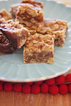 Caramelitas: caramel & chocolate slice, I need to make these one day..you know for the name sake....lol