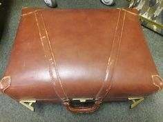 Beautifully distressed caramel color x x by SalvageAngelByTheSea on Etsy Leather Suitcase, Caramel Color, Suitcases, Vintage Leather, Satchel, Trending Outfits, Unique Jewelry, Handmade Gifts, Bags