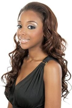 """Motown Tress Half Wig & Ponytail - LG 47 Color 1B by Motown Tress. $19.99. 1/2 WIG & PONYTAIL LONG WAVY OL21"""""""
