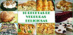 10 RECETAS DE VERDURAS DELICIOSAS