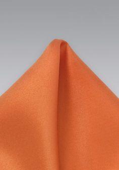 Einstecktuch in kupfernem orange