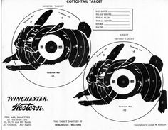 Vintage Shooting Target/ Winchester/ Cottontails