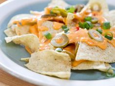 Pimento Cheese Queso with Toppings Bar Recipe   Trisha Yearwood   Food Network