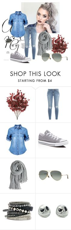 """Jeans"" by elvisa-hamzic ❤ liked on Polyvore featuring Frame Denim, Converse, Calypso St. Barth, Ray-Ban and H&M"