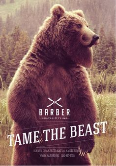 """Tame the Beast"" barbershop campaign."