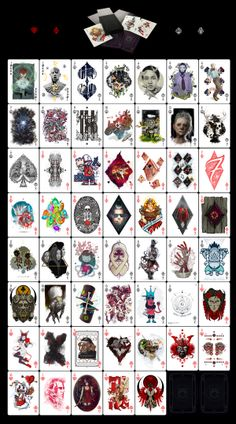New artpack from Goverdose art collective - DECK. Playing cards, micro art album. Zoom: https://www.behance.net/gallery/16487019/Goverdose-20-06-Deck , pre-order: http://preorder.goverdose.com