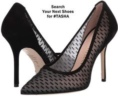 The TASHA 100 silhouette takes the timeless pump look from classic to cool with stylish ease. Crafted from mesh — either peppered with luxe velvet details or with a shimmering lamé finish — these see-through stilettos are equal parts seductive and sophisticated. Zara Fashion, Fashion Heels, High End Shoes, High Heels, Highland Boots, Next Shoes, Popular Shoes, Shoe Company, Cool Boots