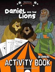 Daniel and the Lions coloring pages, quizzes, and worksheets for kids | Instant download Activity Book! Bible Resources, Bible Activities, Kindergarten Activities, Activities For Kids, Activity Books, Daniel And The Lions, Book Of Daniel, Sabbath School Lesson, Lion Coloring Pages
