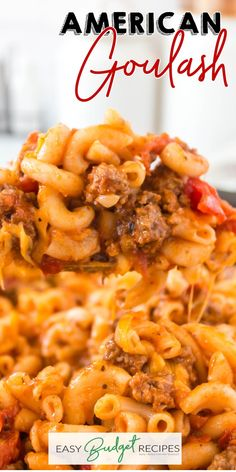 American Goulash is an easy one-pot dinner classic that the entire family loves. Follow Easy Budget Recipes for some good old fashioned easy comfort food.