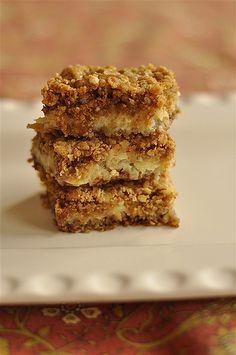 sour cream apple bars.