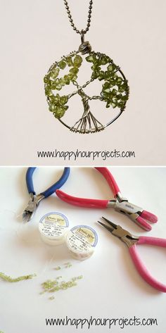 DIY Tree of Life Necklace Project | Wire-Wrapped Tree Necklace by DIY Ready at http://diyready.com/12-diy-tree-of-life-ideas/