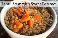 Crock Pot Vegetarian Lentil Stew with Sweet Potatoes