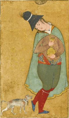 A Wandering Youth, follower Reza-i 'Abbasi, Persia, Safavid, Isfahan, circa 1620
