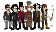 the characters of Johnny Depp
