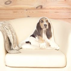 Basset Hound Pillow Linen Cushion Cute Throw Pillow by Casacova Animal Pillows, Dog Pillows, Throw Pillows, Gifts For Pet Lovers, Dog Lovers, Basset Hound, Natural Linen, Linen Fabric, Accent Pillows