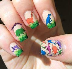 Dinos! #dinasaurnails #cutemani  #nailart - bellashoot.com