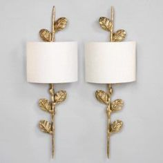 Vaughan Leaf Wall Lights, available through the Ainsworth-Noah showroom.