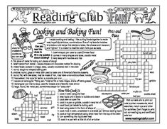 Enjoy a Cooking and Baking-themed Two-Page Activity Set and Crossword Puzzle with this discounted bundle! Includes the following products:  ? Cooking and Baking Fun Two-Page Activity Set ? Kitchen Flair Crossword Puzzle ? Cooking & Baking in the Kitchen Reading Log and Certificate Set