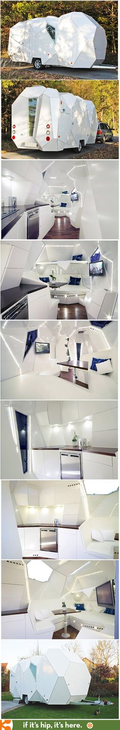 The Mehrzeller Customizable Trailer is a modern treat. | http://www.ifitshipitshere.com/mehrzeller-trailer-you-can-tailor-modern-cellular-caravan-design-with-configurator/