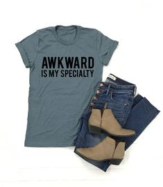 134e0fd40 Awkward Tee Funny Graphic Tees, Diy Shirt, Awkward, Cricut, Diy T Shirts