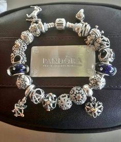 Bracelet Pandora Stars Etoiles Argent Silver Blue Bleu Bijoux et charms à retrouver sur www.bijoux-et-charms.fr
