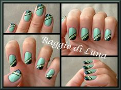 Green with rhinestones