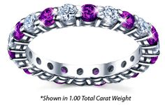 amethyst and diamond eternity ring  Purple is my Passion!!