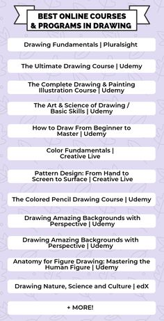 Whether you're just interested in drawing as a hobby or you're an aspiring illustrator, here's a list of free and affordable online drawing courses for you. College Dorm Essentials, College Checklist, College Tips, Girl College Dorms, College Club, College Students, Online Drawing Course, Illustration Courses, Best Online Courses