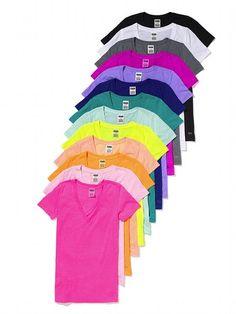 PINK Essential V-Neck Tee #VictoriasSecret http://www.victoriassecret.com/sleepwear/lounge/essential-v-neck-tee-pink?ProductID=78230=OLS?cm_mmc=pinterest-_-product-_-x-_-x