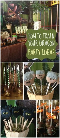 So many fun ideas at this How to Train Your Dragon party! See more party ideas at http://CatchMyParty.com!