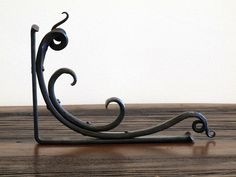 Beautiful Hand Forged Iron Shelf Brackets by ArtisansoftheAnvil