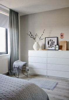 Ikea Malm in the bedroom - Ikea Malm in the bedroom - . Ikea Malm in the bedroom - Ikea Malm in the bedroom - Always wan. Bedroom Decor, Decor Room, Home Decor, Bedroom Ideas, Bedroom Designs, White Furniture In Bedroom, White Drawers Bedroom, White Bedroom Curtains, Master Bedrooms