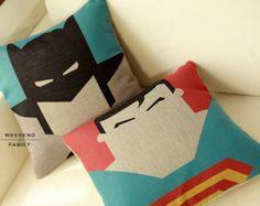 45X45CM Superman Batman Home Decor Throw pillow cover Decorative pillow Cushion