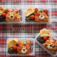 Bear pork katsu bentos by Anna (@nariselu_) Japanese Bento Lunch Box, Bento Box Lunch, Lunch Snacks, Bento Recipes, Baby Food Recipes, Cute Bento Boxes, Toddler Lunches, Kawaii Bento, Rice Balls