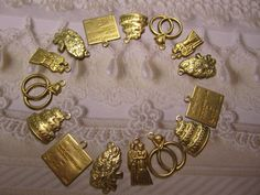 Wedding Charms Bridal Supplies Brass Set/15 Bride by Charms4Design (Craft Supplies & Tools, Jewelry & Beading Supplies, Charms, Wedding Charms, Bridal Supplies, bridal shower, wedding shower, bride and groom, bridal bouquet, marriage license, jewelry supplies, bracelet supplies, wedding rings, wedding cake, craft supplies, Charms4Design)