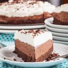 This Triple Chocolate Mousse Cake (GF) will rock your world. Rich, decadent, light, and melt-in-your-mouth. Triple Chocolate Mousse Cake, Triple Chocolate Cheesecake, Ghirardelli Chocolate, Melting Chocolate, Flourless Chocolate Cakes, Chocolate Recipes, Cake Fillings, Tres Chocolates, Sweet Tarts
